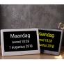 ComfortClox - De complete kalenderklok met vele opties - Zwart