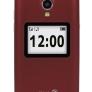 Doro 2424 klaptelefoon - rood-wit + Gratis hoesje