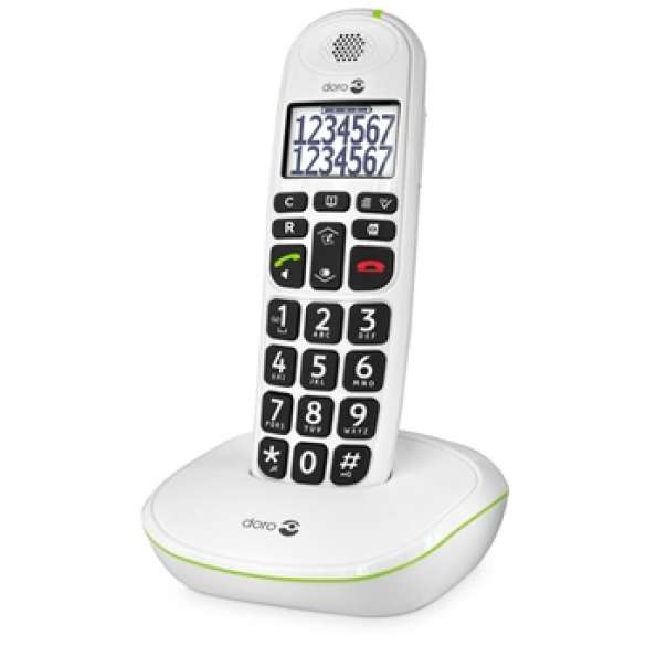 Doro DECT seniorentelefoon PE-110 met extra grote toetsen - wit