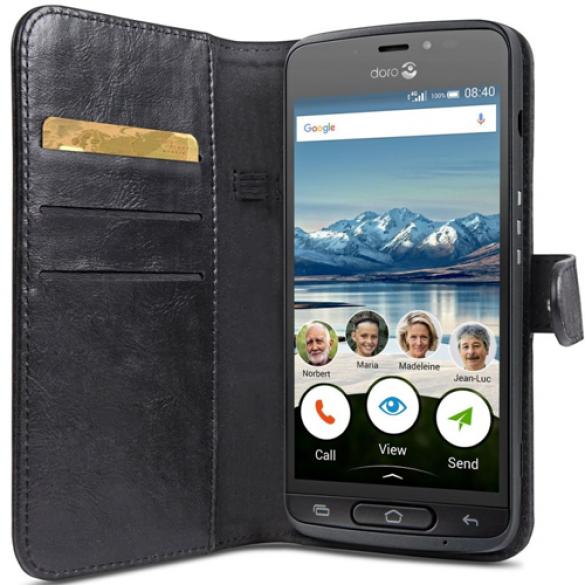 Walletcase Doro 8040 - Zwart