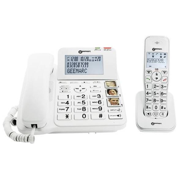 Senioren combi telefoon met antwoordapparaat   Geemarc DECT295-2
