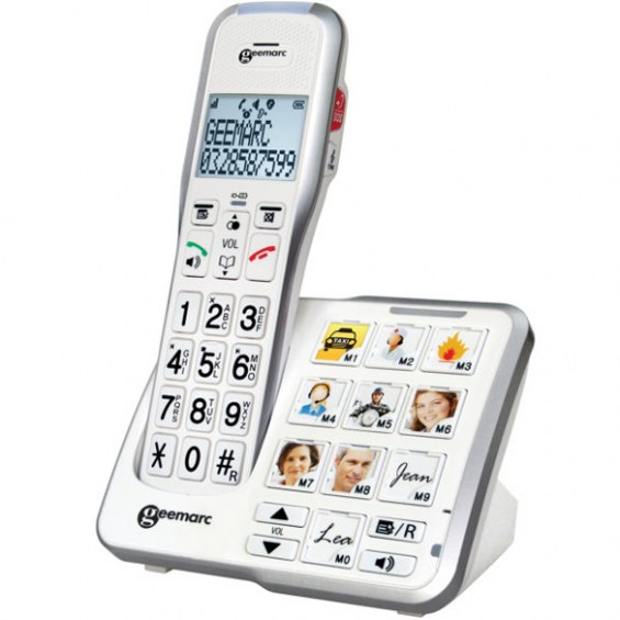 Senioren DECT telefoon met fototoetsen - Geemarc