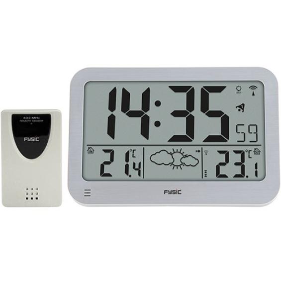 Digitale klok met weerstation Fysic FKW-2200