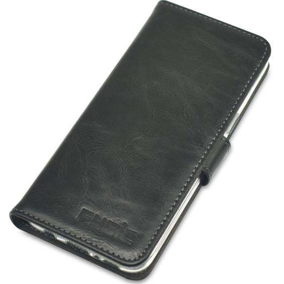 Fysic F101 COVER Book case telefoonhoes voor F101, zwart | Stijlvolle slide case | Schokabsorberend | zwart