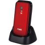 Fysic FM-9710 senioren klaptelefoon - Rood