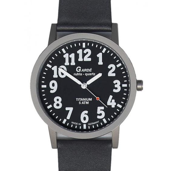 Garde low vision herenhorloge 56-86 | Zwart