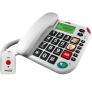 Maxcom KXT 481 huistelefoon met SOS halszender - Wit