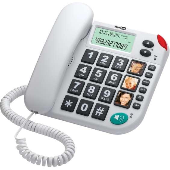 MaxCom huistelefoon voor senioren - Wit