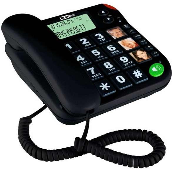 MaxCom huistelefoon voor senioren - Zwart