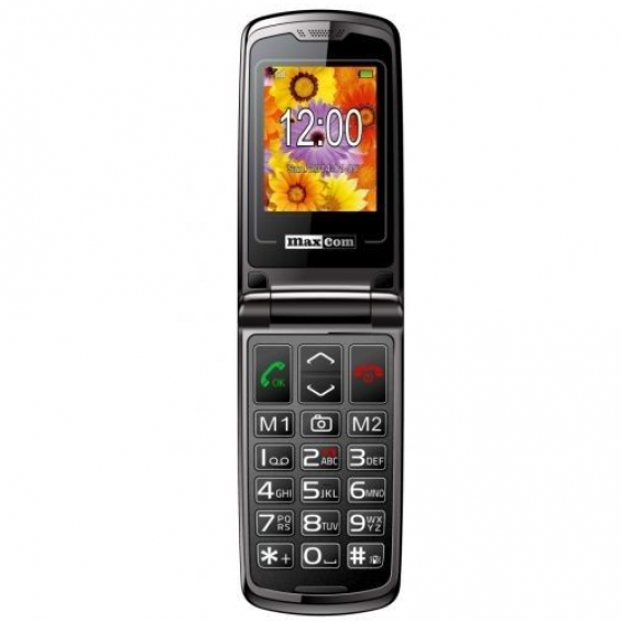 Maxcom MM 822 BB klaptelefoon - Zwart