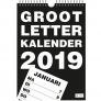 Grootletter kalender A4  wandmontage - 2019