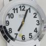 Slechtzienden horloge witte wijzerplaat