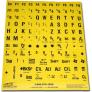 Toetsenbordstickers slechtziend - zwart op geel