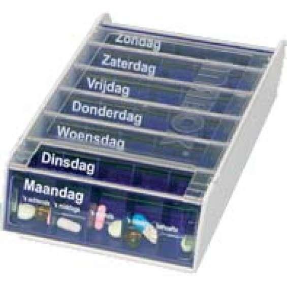 Medicijndoos voor 7 dagen - Anabox blauw