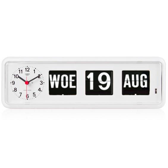 Kalenderklok - Twemco BQ-38 - Wit | Laagste prijsgarantie