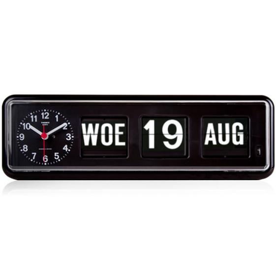 Kalenderklok - Twemco BQ-38 - Zwart | Laagste prijsgarantie
