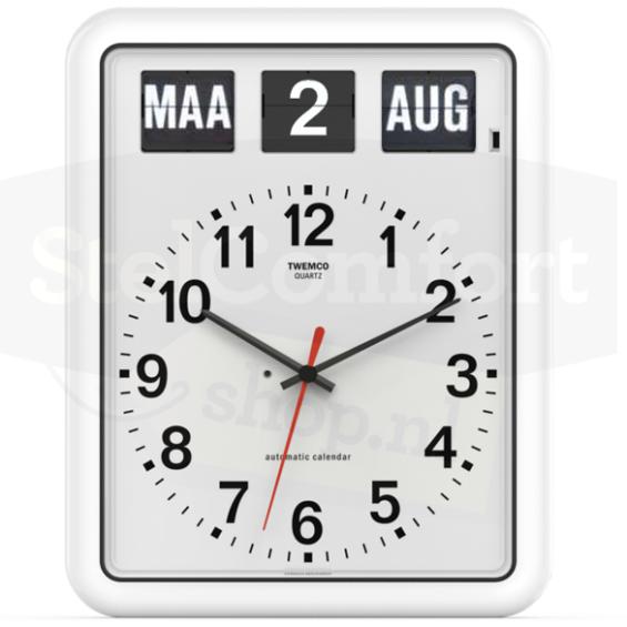 Kalenderklok - Twemco BQ-12 - Wit | Laagste prijsgarantie