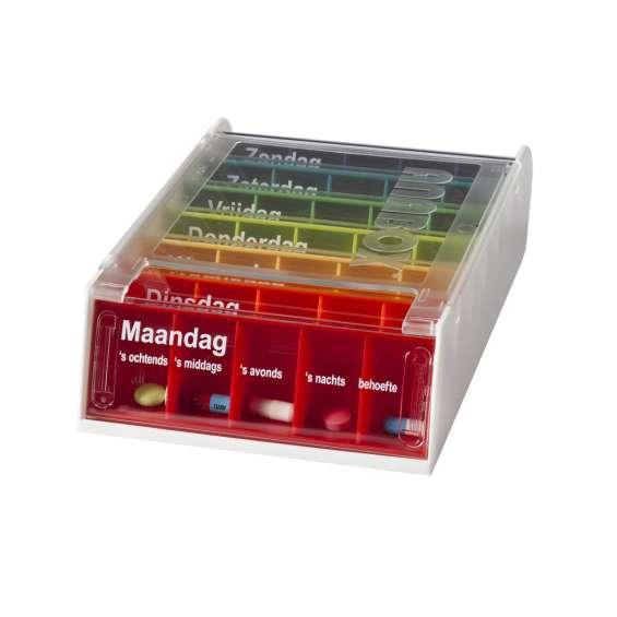 Medicijndoos voor 7 dagen - Anabox regenboog