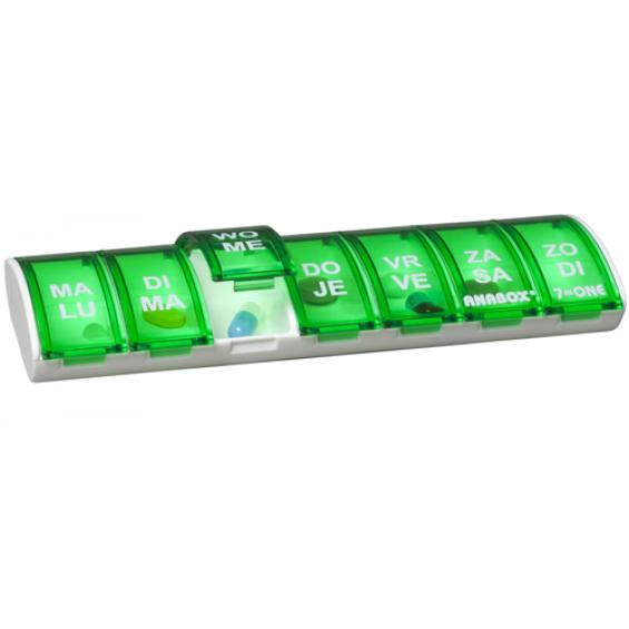Anabox pillendoos weekbox - Groen