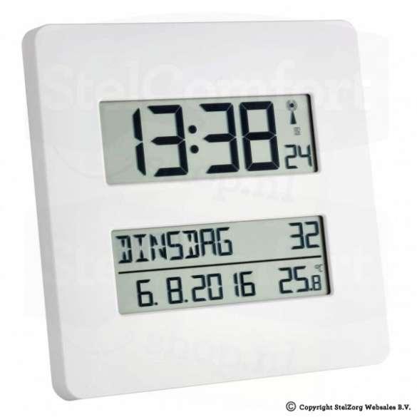 Kalenderklok met temperatuurweergave | Laagste prijsgarantie
