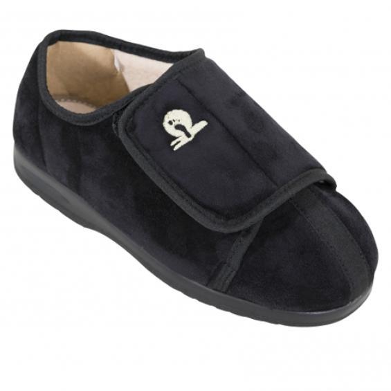 Cameron pantoffel laag - Zwart
