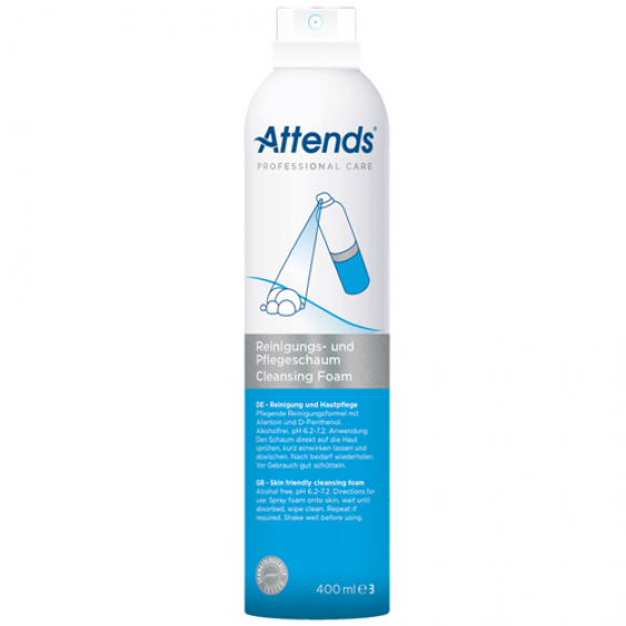 Attends Care Foam - 400ML - Reinigt intieme zone zonder water