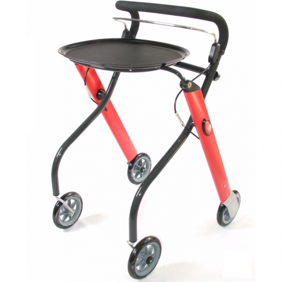 Let's Go rollator rood / antraciet