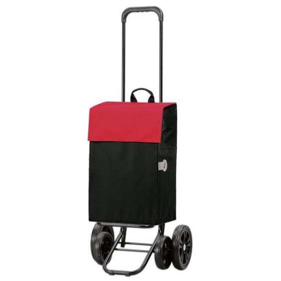 Quattro Shopper Hera boodschappenwagen zwart/rood