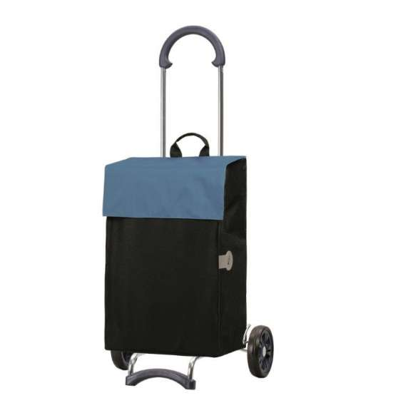 Smartshopper Hera boodschappenwagen zwart/blauw