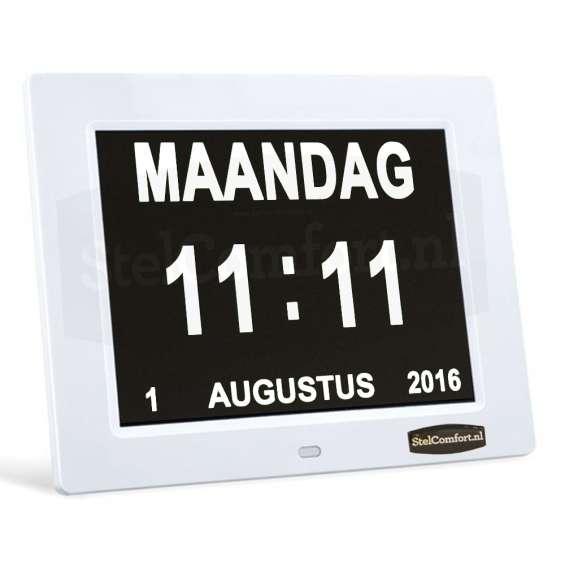 Digitale Kalenderklok met datum, dag en tijd - Dayclox