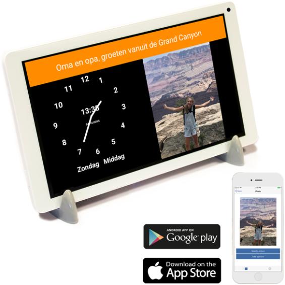 DayClock Plus 7 - Kalenderklok met agendafunctie