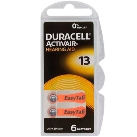 Duracell DA13 hoorapparaat batterij - Oranje