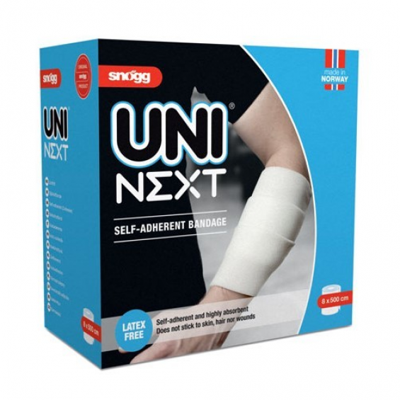 Snogg Uni Next - zelfhechtend wondverband - Latexvrij - 8cm x 5m
