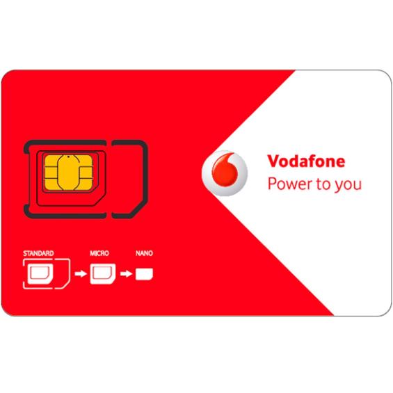 Vodafone pre-paid simkaart met 5 euro beltegoed + 5 extra euro na eerste opwaardering