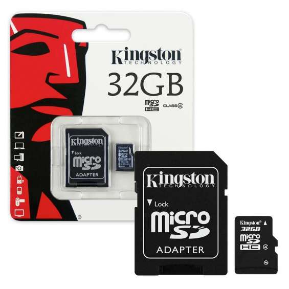 Kingston Micro SD Micro SDHC Geheugenkaart Class 4 met SD adapter - 32GB