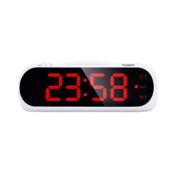 Wekker met optioneel trilalarm voor slechthorenden   Fysic FC-240