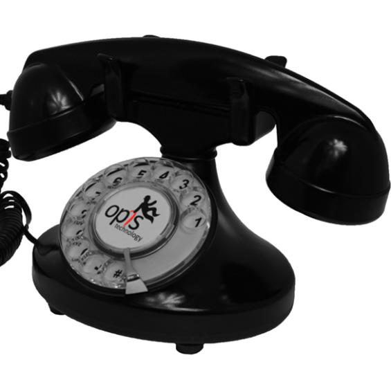 FunkyFon huistelefoon met draaischijf - Zwart