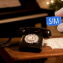 Opis 60S retro huistelefoon met SIM aansluiting - Zwart