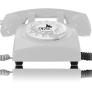 Opis 60S retro huistelefoon - Wit