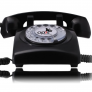 Opis 60S retro huistelefoon - Zwart