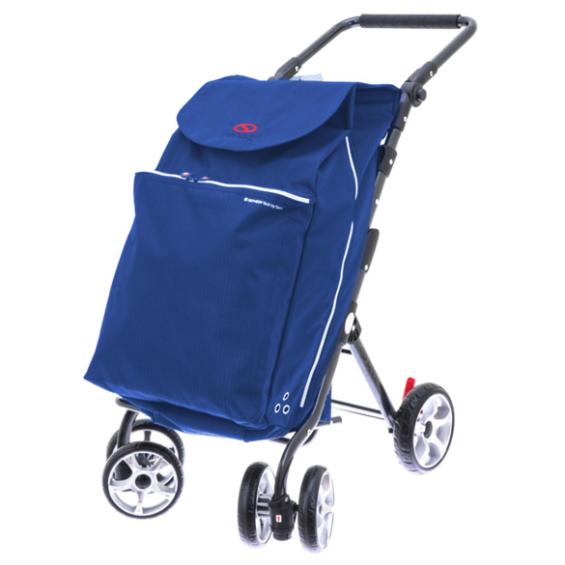 2Mobility boodschappenwagen Deluxe - Korenblauw