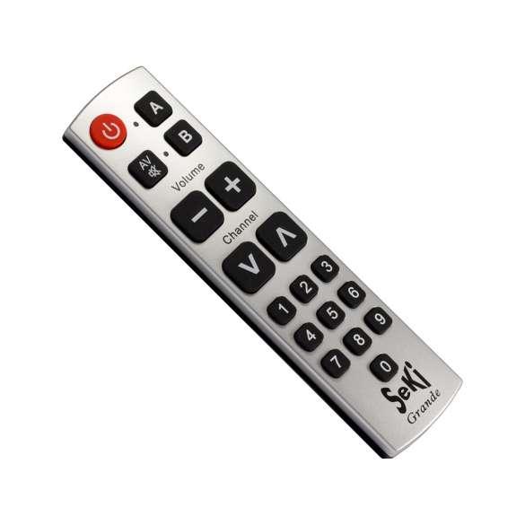 Beste Tv Voor Slechtzienden.Universele Afstandsbediening Met Cijfers Seki Grande Zilver