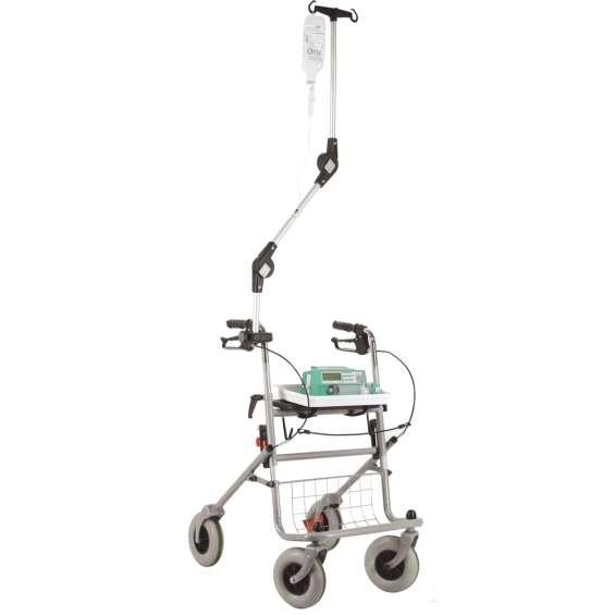 Infuushouder voor rollator of rolstoel