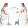 Squat-N-Go toiletkrukje - opvouwbaar - Grijs