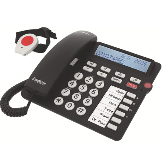 Tiptel senioren huistelefoon met alarmknop - Ergophone 1310