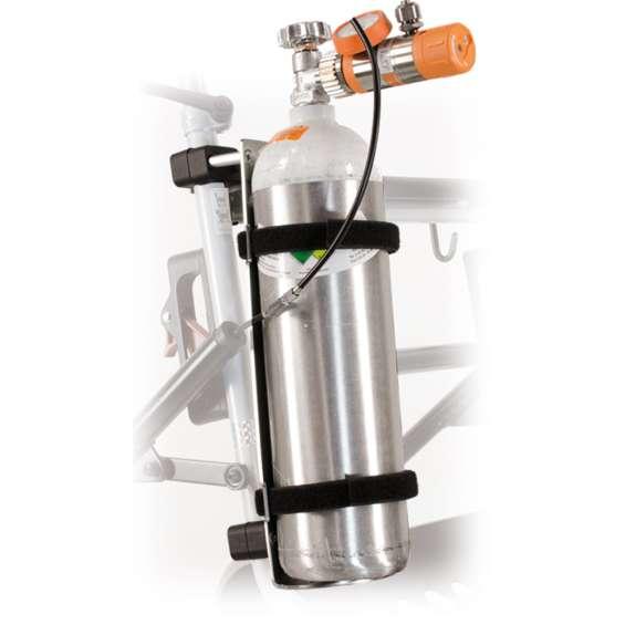 Zuurstoffleshouders voor rollators | Voor rollators met ronde buizen
