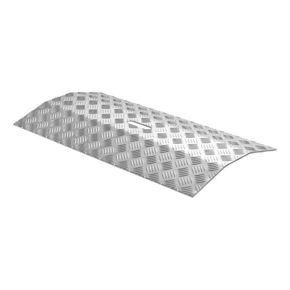 Drempelbrug aluminium - 0 - 4cm