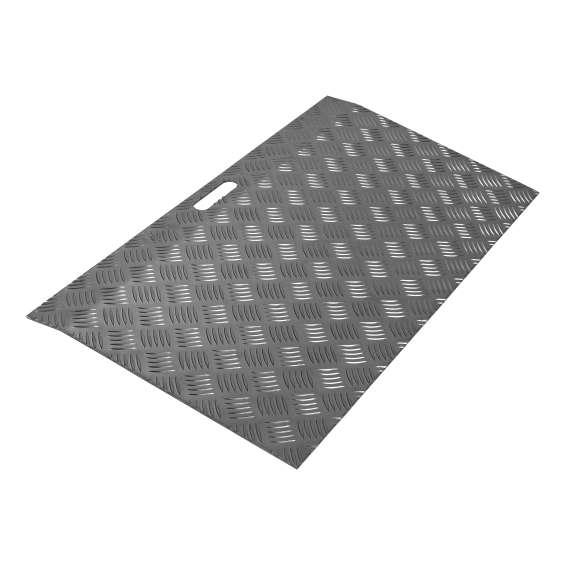 Aluminium drempelhulp zwartgrijs SecuCare - 3 - 7cm