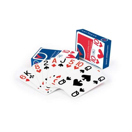 Speelkaarten met grote symbolen op alle hoeken - 2 stokken