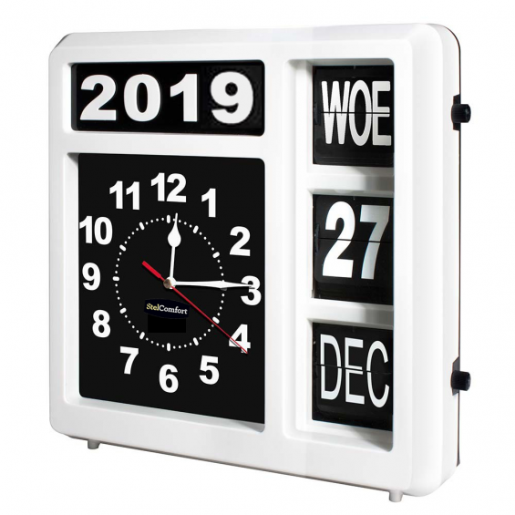 Kalenderklok Analoog | Velleman WCF1NL | Extra groot ( 32x32cm)
